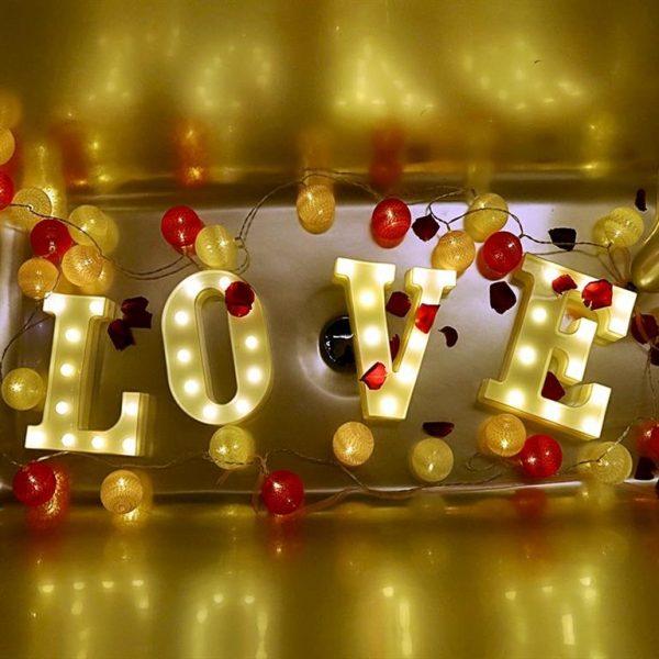 Luminous LED Letters - Love