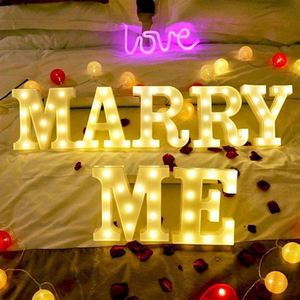 Luminous LED Letters - Marry Me