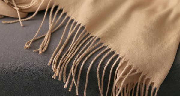 Luxury Cashmere Scarf With Tassels - Tassels