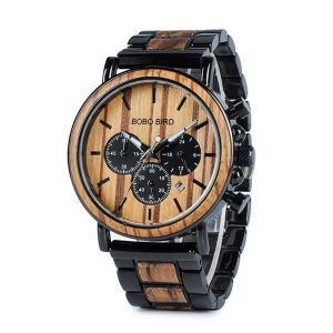 Men's Wooden Military Watch