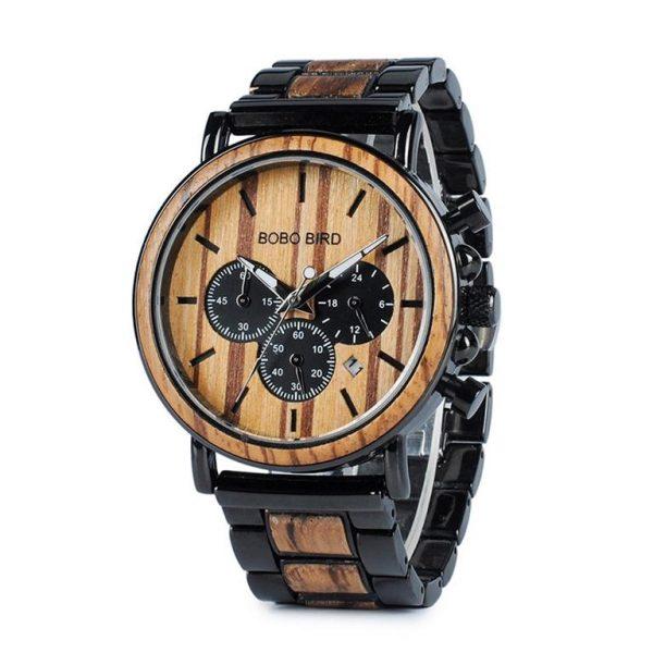 Men's Wooden Military Watch