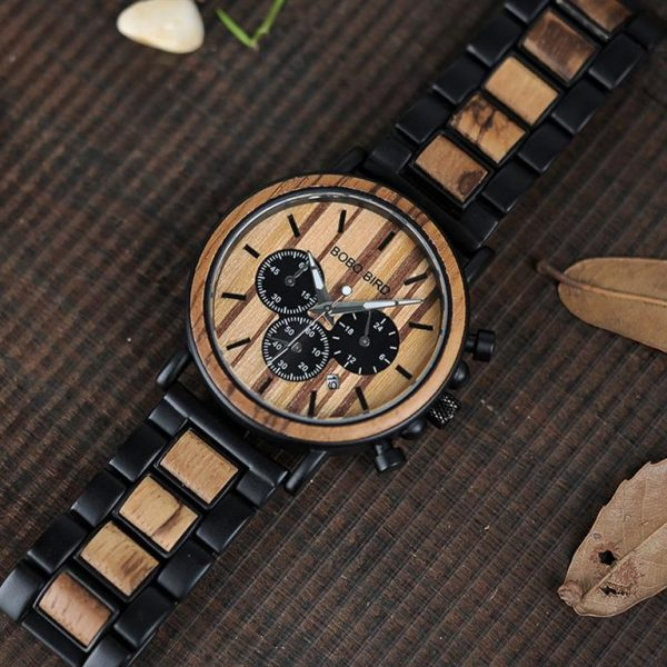 Men's Wooden Military Watch - Diag