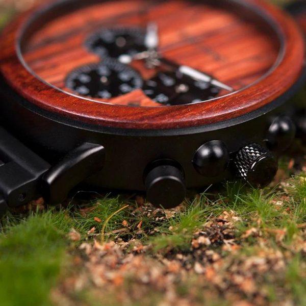 Men's Wooden Military Watch 1
