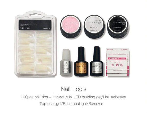Nail Art Manicure Kit - Tools - Tips