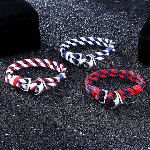 Nautical Anchor Bracelet For Men - Sample 2