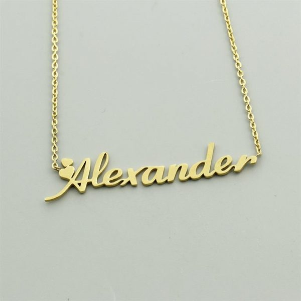 Personalized Name Pendant With Chain - 3