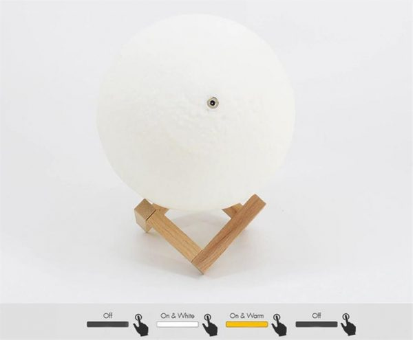 3D Night Light Moon Lamp - 9