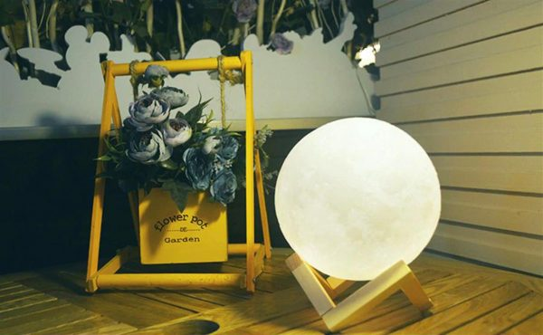 3D Night Light Moon Lamp - Model 2