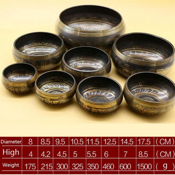 Decorative Tibetan Singing Bowl - dark