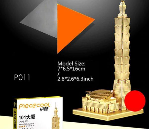 3D Metal Model Building Kits - Famous Buildings - Taipei - 2