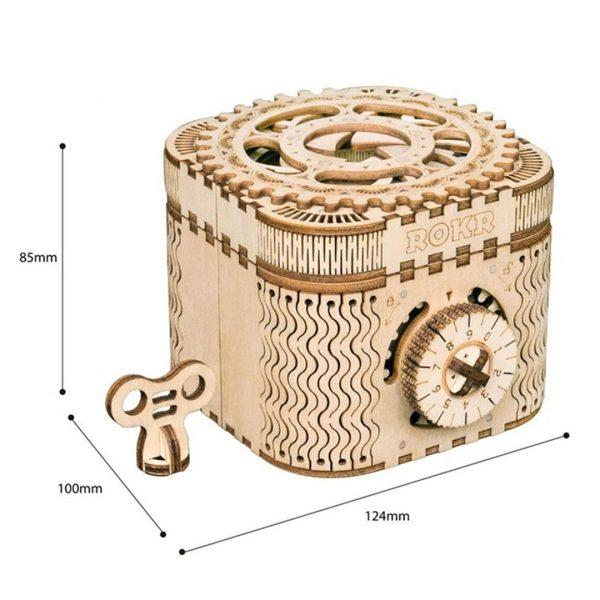 DIY 3D Treasure Box - Size