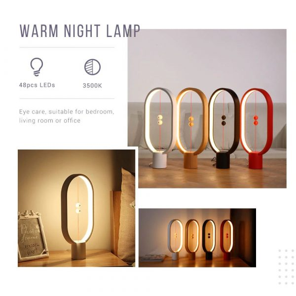 LED Night Light With Magnetic Balls Switch - 3