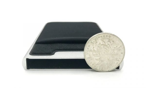 Aluminum Credit Card Case With Elasticity Back Pouch - Height