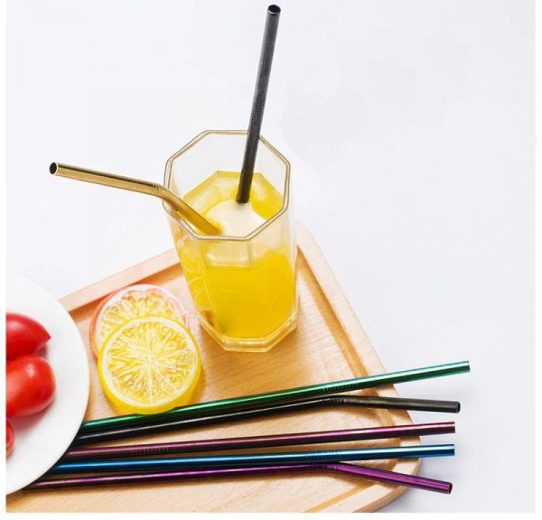 Colourful Reusable Stainless Steel Straws - 1