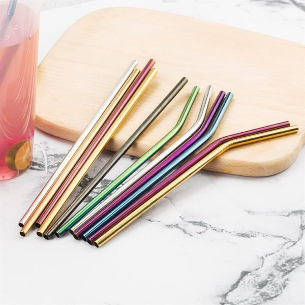 Colourful Reusable Stainless Steel Straws