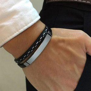 Customizable Leather Bracelets for Men - 2