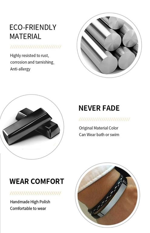 Customizable Leather Bracelets for Men - 3