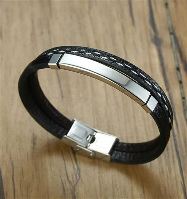 Customizable Leather Bracelets for Men - 5