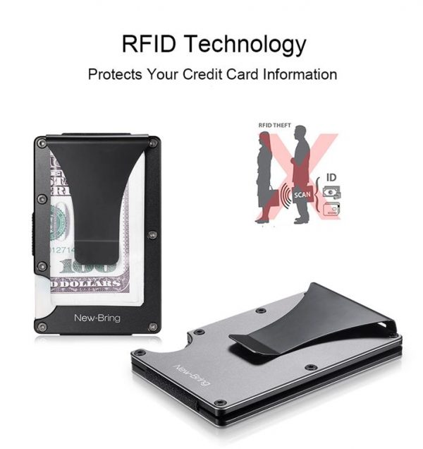 Metal Credit Card With Money Clip - RFID