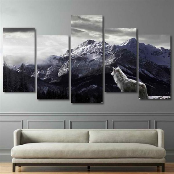 Canvas-Wall-Art-Nordic-Mountain-Landscape