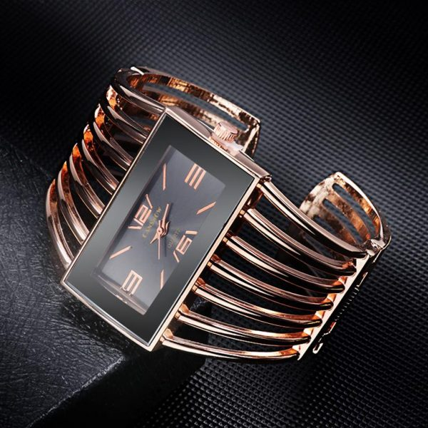 Rhinestone Bracelet Watch For Women - 5