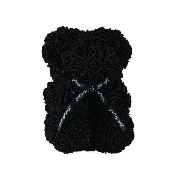 Beautiful Rose Teddy Bear - Black