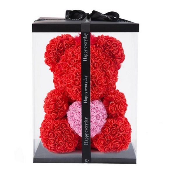 Beautiful Rose Teddy Bear With Heart 1
