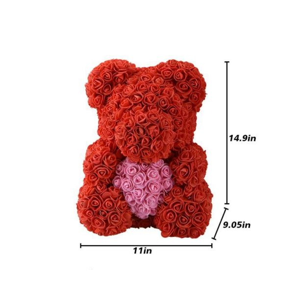 Beautiful Rose Teddy Bear With Heart 2