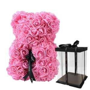 Beautiful Rose Teddy Bear - pink box