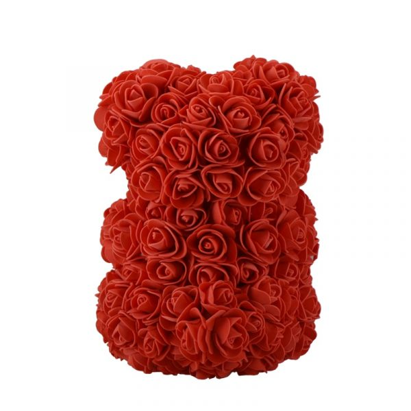 Beautiful Rose Teddy Bear - red