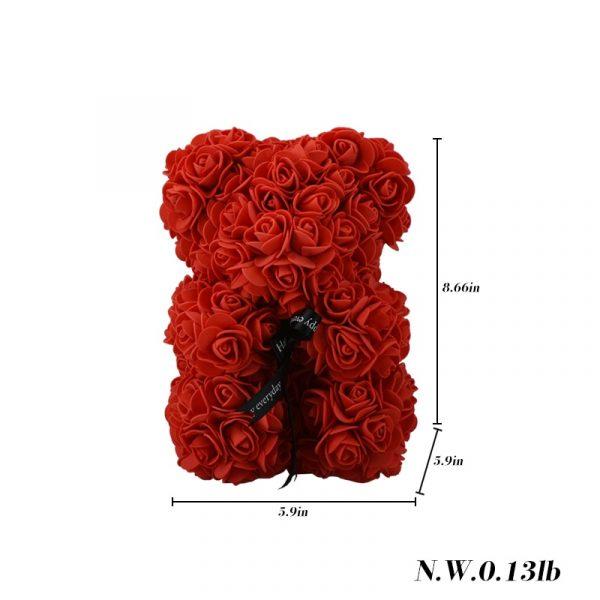 Beautiful Rose Teddy Bear - size