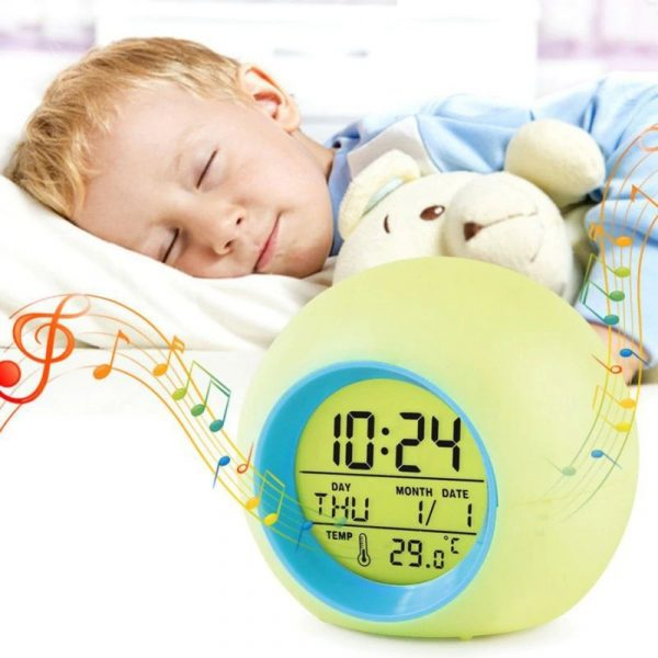 Childrens Colourful Digital Alarm Clock - 2