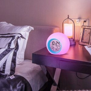 Childrens Colourful Digital Alarm Clock