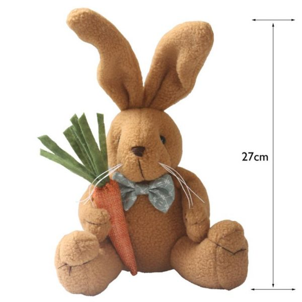 Cute Bunny Rabbit With Carrot - Size
