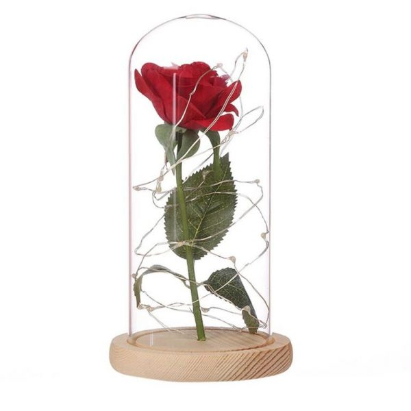 Enchanting LED Rose Flower - Clear