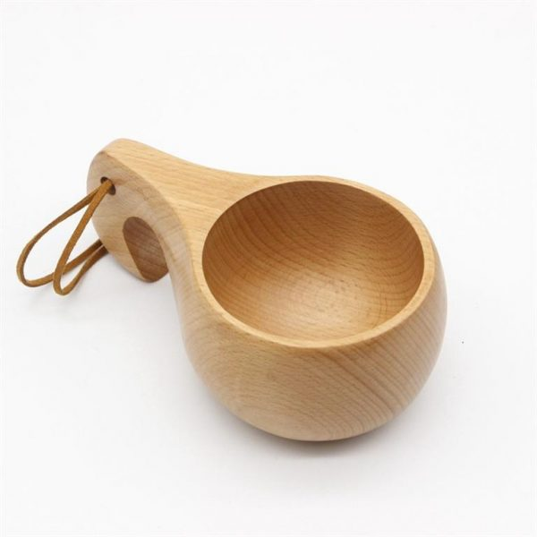 Handmade Nordic Style Wooden Cups - 11