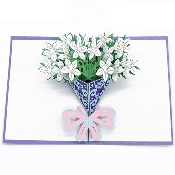 Mother's Day 3D Pop Up Cards - Gardenia bouquet