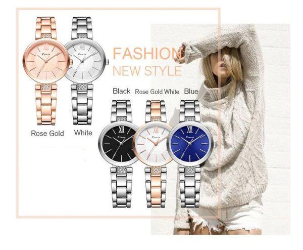 Womens Slim Fashion Wristwatch - colours