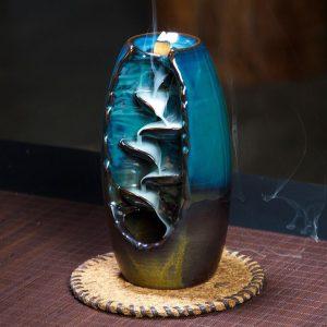 Cascading Backflow Incense Burner