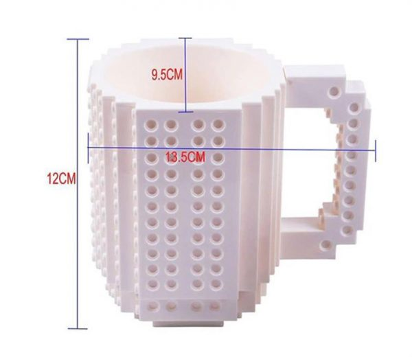 Creative Build On Brick Mug - Size