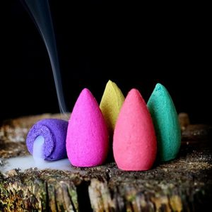 Natural Fragrant Incense Cones - 50PC - 4