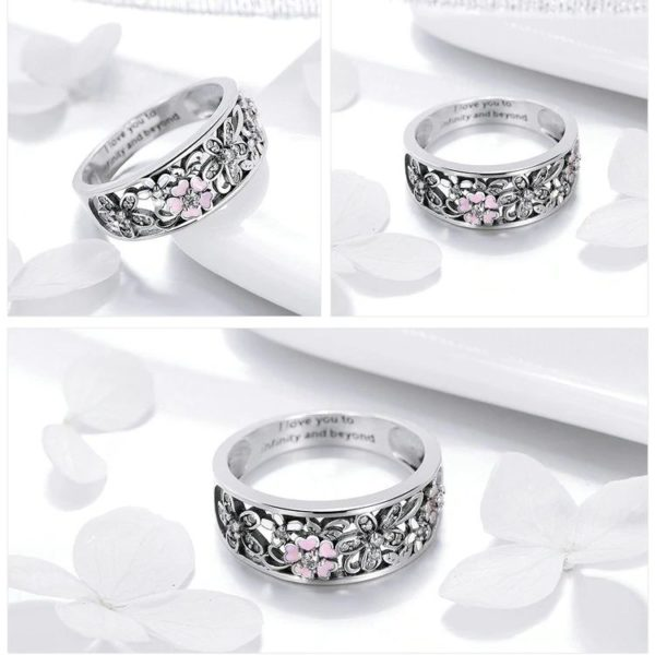 Sterling Silver Daisy Finger Ring - 2