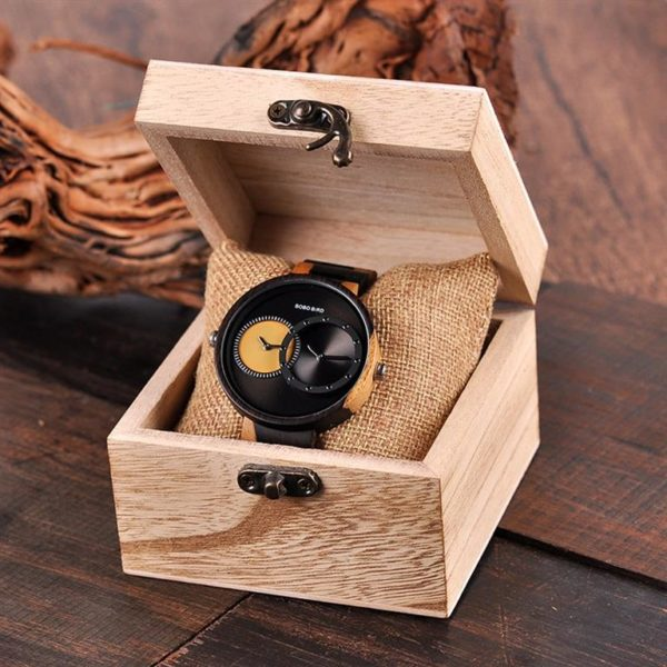 BOBO BIRD Wooden Watch With Dual Dials - Box