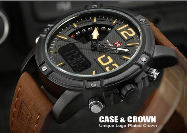 Men's Fashion Leather Military Sport Watch - Dial