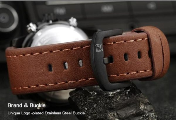 Men's Fashion Leather Military Sport Watch - Strap