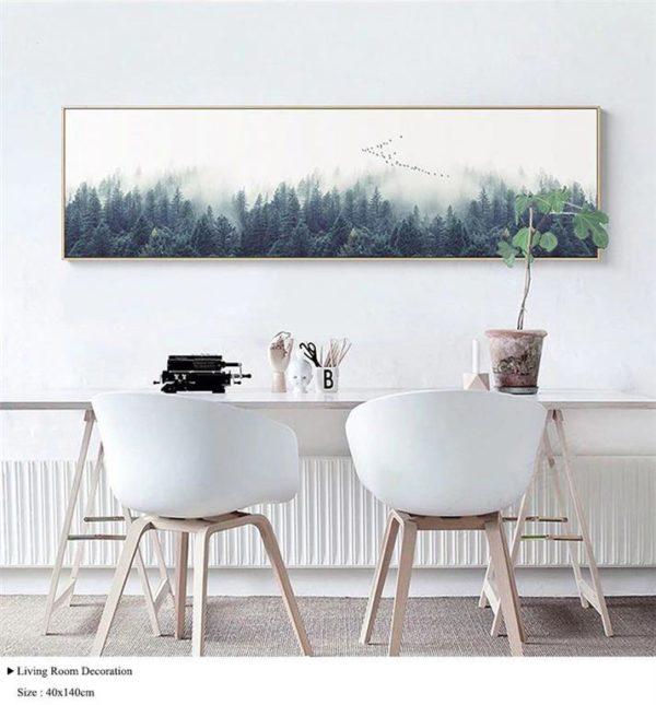 Single Canvas Nordic Forest Landscape - 1