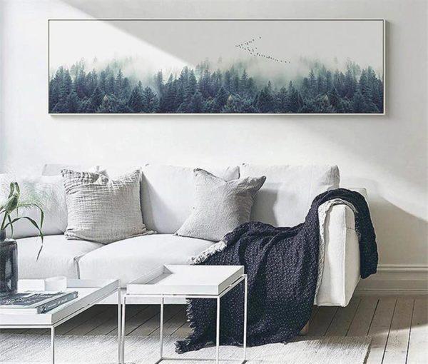 Single Canvas Nordic Forest Landscape - 2
