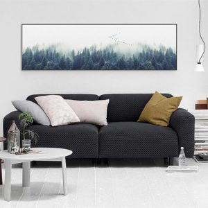 Single Canvas Nordic Forest Landscape - 5