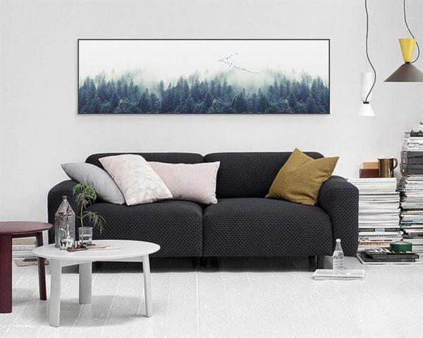 Single Canvas Nordic Forest Landscape - 5