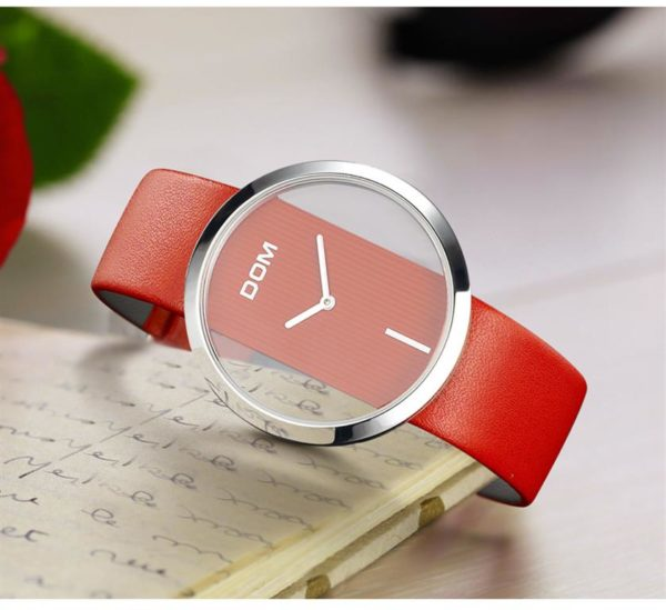 Unique Minimalistic Fashion Watch For Women - Red